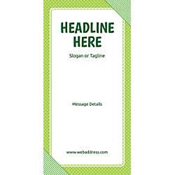 Custom Vertical Banner Green Checks