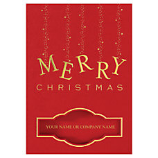Personalized Nameplate Window Holiday Cards With