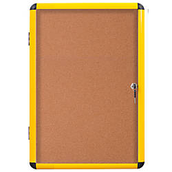 MasterVision Enclosed Cork Board 47 x