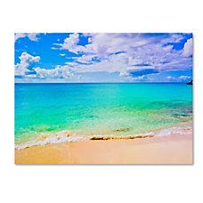 Trademark Global Maho Beach Gallery Wrapped