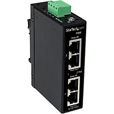 StarTechcom Industrial 2 Port Gigabit PoE