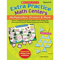 Scholastic Extra Practice Math Centers Multiplication