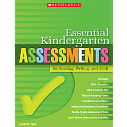 Scholastic Essential Kindergarten Assessments For Reading