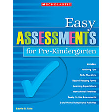 Scholastic Easy Assessments For Pre Kindergarten