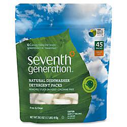 Seventh Generation Natural Dishwasher Detergent 45