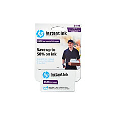 HP Instant Ink Enrollment Webplan 300