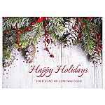 Front Imprint/Die Cut Holiday Cards