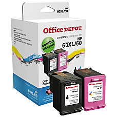Office Depot Brand OD60XLK60C HP 60XL60