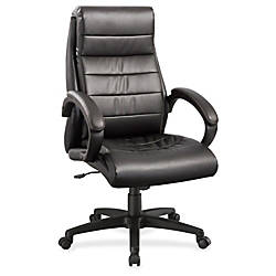 Lorell Deluxe High back Leather Chair