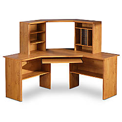 south shore furniture prairie collection corner desk with hutch 55 h x
