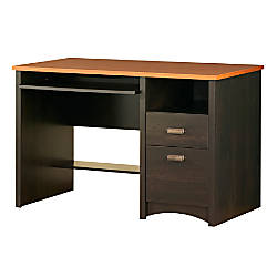 south shore furniture gascony collection computer desk ebony spice
