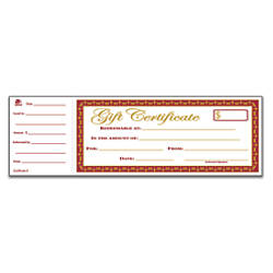Blank & Printable Gift Certificates At Office Depot Officemax