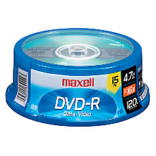 Maxell DVD R Recordable Media Spindle