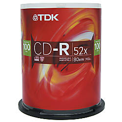 TDK CD R Recordable Media Spindle