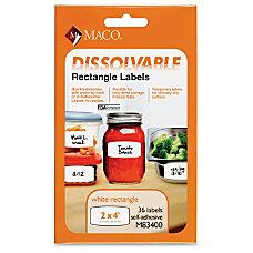 Maco Dissolvable Labels 4 Width x