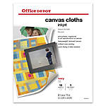 Office Depot Brand Inkjet Canvas Cloths
