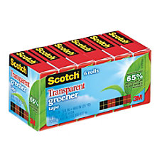 Scotch 65percent Recycled Transparent Tape 34