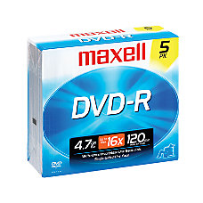 Maxell DVD R Recordable Discs 47GB120