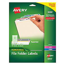 Avery Color Removable Laser File Folder