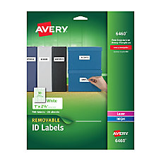 Avery Removable ID Labels Organization 1