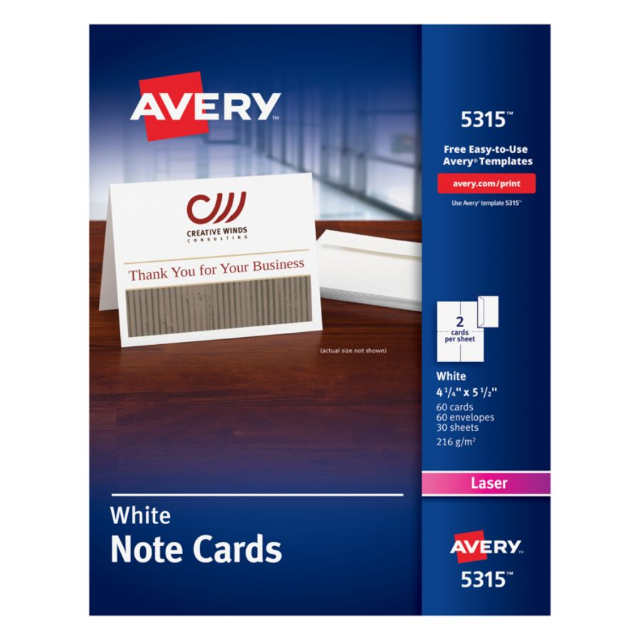 N 5+ office depot wedding invitations Avery Laser Note Cards 4 14
