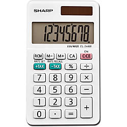 Sharp EL 244WB 8 Digit Professional