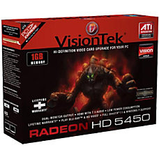 Visiontek 900315 Radeon 5450 Graphic Card