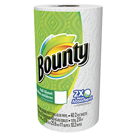 Bounty Is Best. Bounty Paper Towel. The select a size paper towels are great because you can use as much as the job calls for plus a amazing price.
