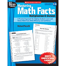 Scholastic Mastering Math Facts Multiplication Division