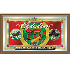 Budweiser Clydesdales 75th Anniversary Mirror 15