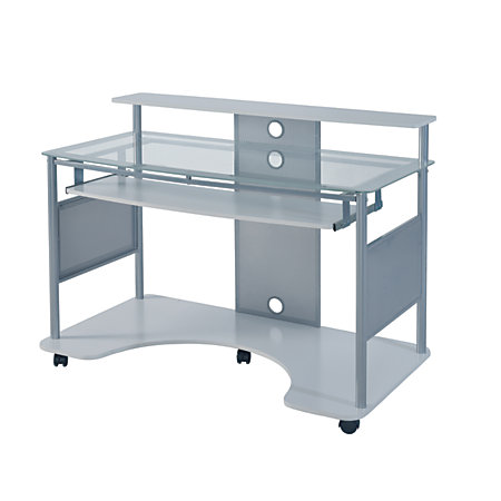 Z Line Designs Mobile Workstation Desk White By Office
