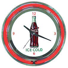 Coca Cola Neon Clock Ice Cold
