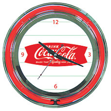 Coca Cola Neon Clock Refreshing Feeling
