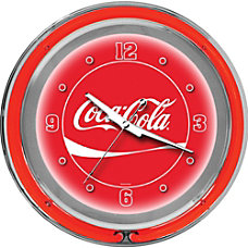 Trademark Global Coca Cola Neon Clock