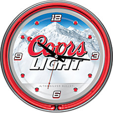 Trademark Global Coors Light Neon Clock