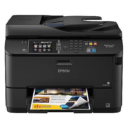 Epson workforce pro wf 4630 wireless color inkjet all in for Best home office hp inkjet printer