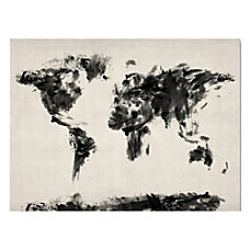 Trademark Fine Art Abstract Map Of