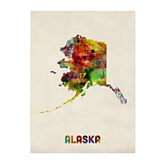 Trademark Fine Art Alaska Map Canvas