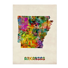 Trademark Fine Art Arkansas Map Canvas