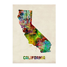 Trademark Fine Art California Map Canvas