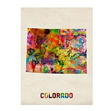 Trademark Fine Art Colorado Map Canvas