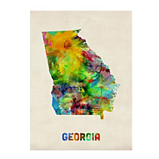 Trademark Fine Art Georgia Map Canvas