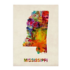 Trademark Fine Art Mississippi Map Canvas