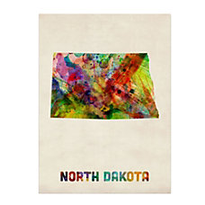 Trademark Fine Art North Dakota Map