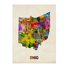Trademark Fine Art Ohio Map Canvas