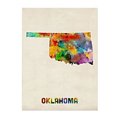 Trademark Fine Art Oklahoma Map Canvas
