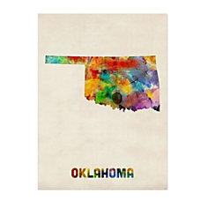 Trademark Fine Art Oklahoma Map Canvas