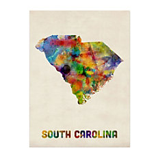 Trademark Fine Art South Carolina Map