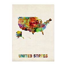 Trademark Fine Art United States Map