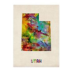 Trademark Fine Art Utah Map Canvas